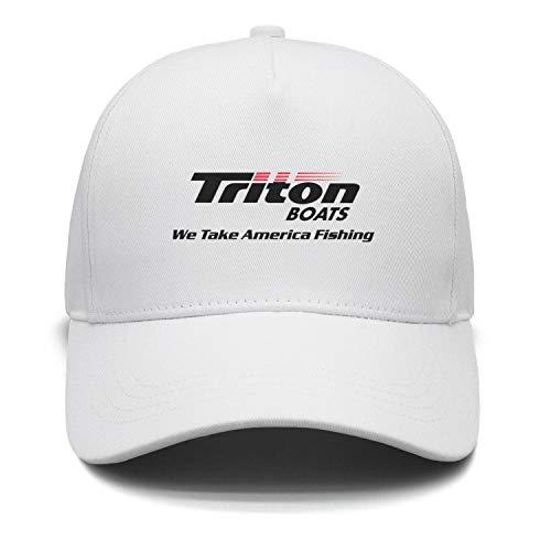 Fashion Cap Adjustable Triton Boats Logo w tag Casual Baseball Caps White ()