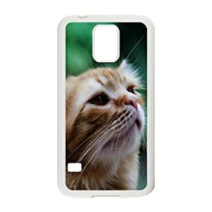 Vety Cat Samsung Galaxy S5 Cases Smell Cat, Cat [White]