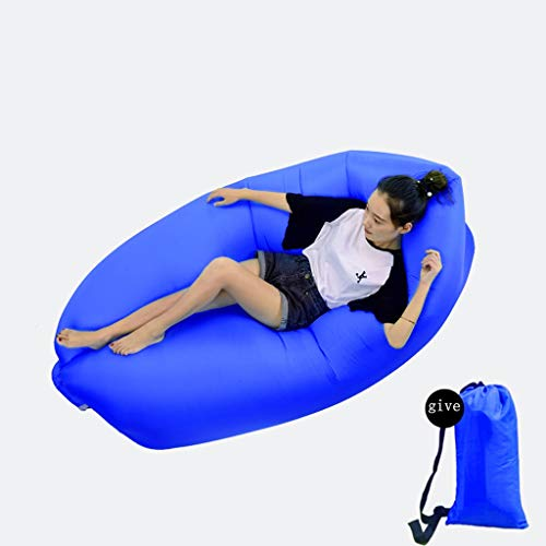 (Inflatable Recliner Portable Inflatable Sofa Waterproof Headrest Inflatable Sofa Outdoor/Beach/Pool/Camping (Color : Purple, Size : 1808863cm))