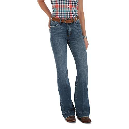 Wrangler Women's Premium Mid-Rise Trouser Jean, Laguna Beach, 27W x 34L