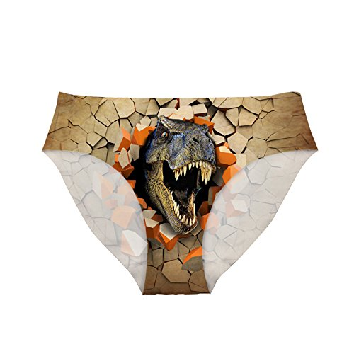- Dellukee Sexy Women Underwear Briefs Breathable Hipster Panty Dinosaur Print