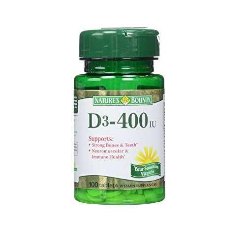 Natures Bounty D3 400 Tablets Vitamin