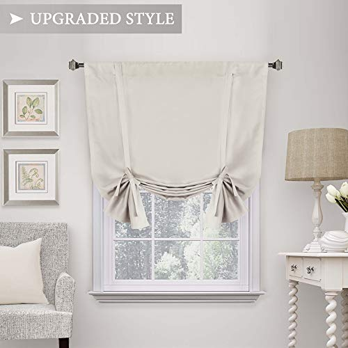 H.VERSAILTEX Thermal Insulated Blackout Tie Up Curtain, Adjustable