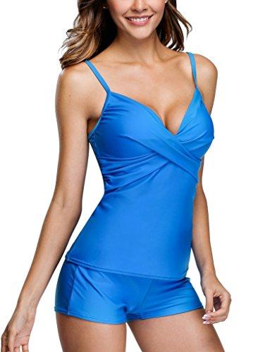 Anfilia - Tankini - para mujer Azul