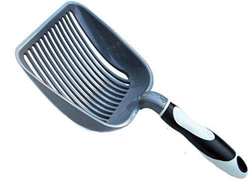 (iPrimio Sifter w/Deep Shovel Litter Scoop - Designed by Cat Owners - Durable ABS Plastic Litter Scoop, Scooper. Solid Handle)