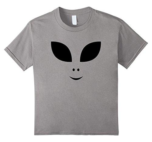 Kids Cute Alien Face Halloween Costume T-Shirt 10 Slate - Cute Space Girl Costume
