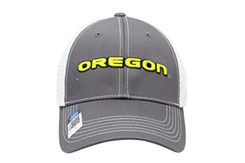Collegiate Headwear Men's Oregon Ducks Embroidered Grey Ghost Mesh Back Cap