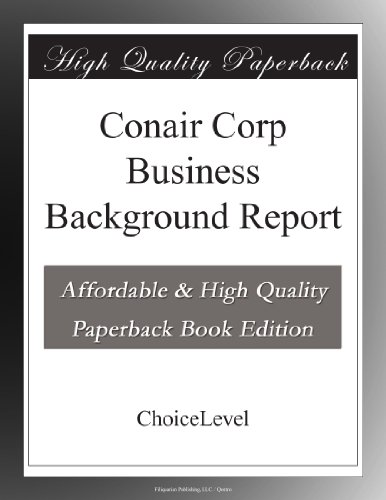 Price comparison product image Conair Corp Business Background Report
