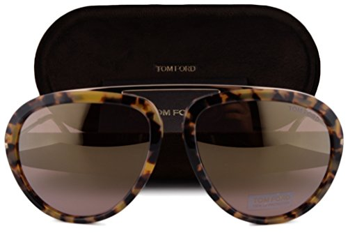 Tom Ford FT0452 Stacy Sunglasses Blonde Havana w/Pink Mirror Lens 53Z TF - Tom Bond Sunglasses Men Ford James