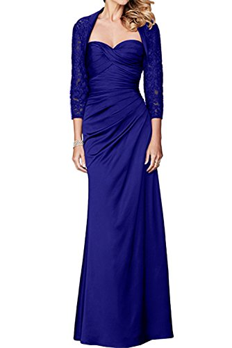 Ivydressing Spitze Mit Damen Royalblau Promkleid Lang Ballkleider Abendkleider Herzform Bolero Brautmutterkleid gTOgw