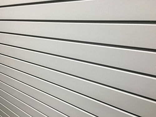 Slotwall Display Systems (White SlatWall Garage PVC Panels Heavy Duty Storewall Display Slatboard Slotwall System Slat Wall 8x4 ft Section , 10 ZG-WALL Pannels)