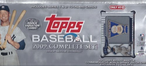 2009 Baseball - 2009 Topps Baseball Factory Sealed Complete Set with Exclusive Mickey Mantle Patch Card