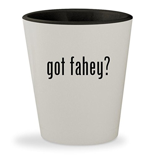 got fahey? - White Outer & Black Inner Ceramic 1.5oz Shot - Claire Marie Glasses