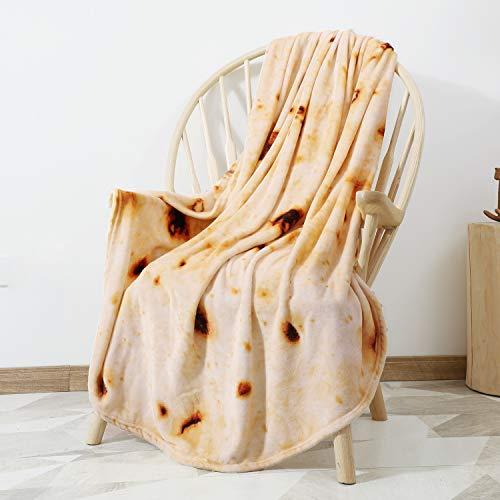 CASOFU Burritos Blanket, Double Sided Giant Flour Tortilla Throw Blanket, Novelty Tortilla Blanket for Your Family, 285…
