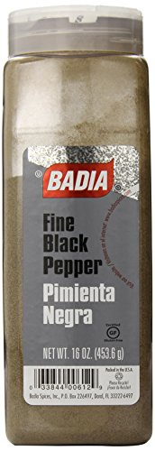 (Badia Black Pepper Ground Fine, 16 Ounce)