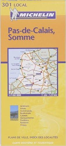 Amazon Fr Carte Routiere Michelin Numero 301 Pas De Calais Somme Carte Local Michelin Livres