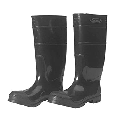 """Liberty DuraWear PVC Protective Boot with Steel Safety Toe, 16"""" Height, Size 06, Black: Industrial & Scientific"""