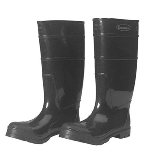 Liberty DuraWear PVC Protective Boot with Steel Safety Toe, 16'' Height, Size 14, Black