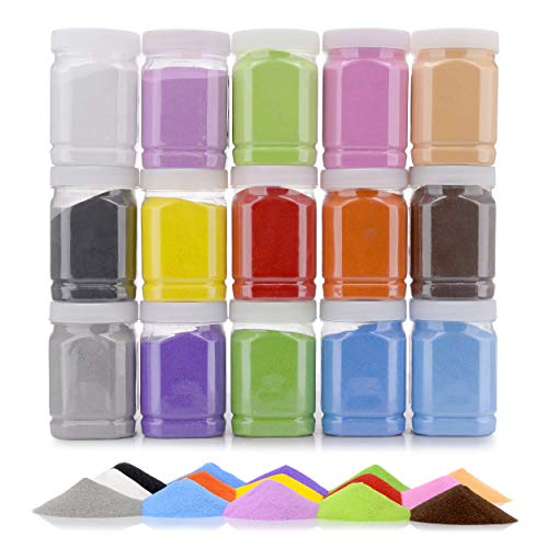 Halloween Sand Art Bottles ([16.5 Pound] Art Sand/Scenic Sand Non-Toxic Colored Sand for Kids' Arts & Crafts, Terrarium Sand Play DIY Drawing Sandbox Wedding Sand for Decorations and Crafty Collection Sand Bottles ... (15)