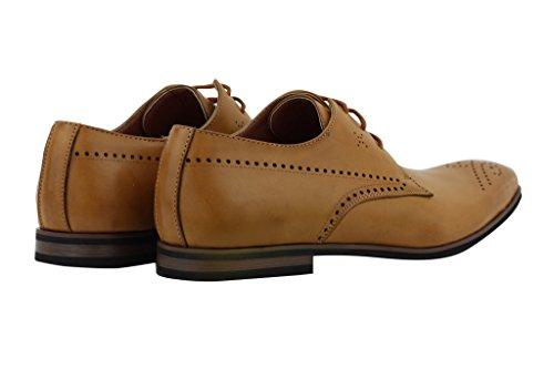 Xposed - Chaussures À Lacets Marron Skaï Cannelle Homme znclJID5xH