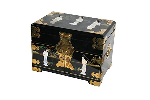 - Black Lacquer Wooden Jewelry Chest Model 8541-BK