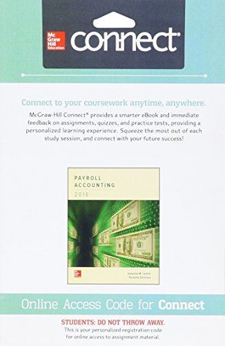 Connect with LearnSmart Access Card for Payroll Accounting 2016