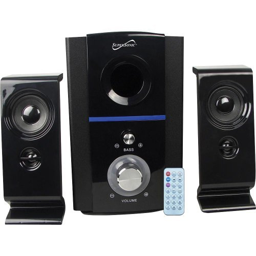 Supersonic SC1126 Clear Multimedia FM Speakers (Set of 2) by Supersonic