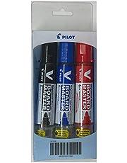 Pilot SP1530 V Board Master Whiteboard Marker 3 Piece Pack Black/Blue/Red