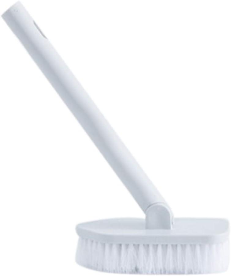 Gelentea Brosse de salle de bain /à long manche en poils et c/éramique pour carrelage et toilettes