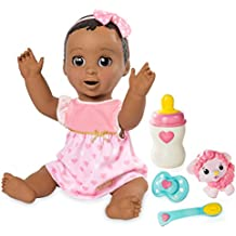 SpinMaster Luvabella - Dark Brown Hair - Responsive Baby Doll with Realistic Expressions and Movement