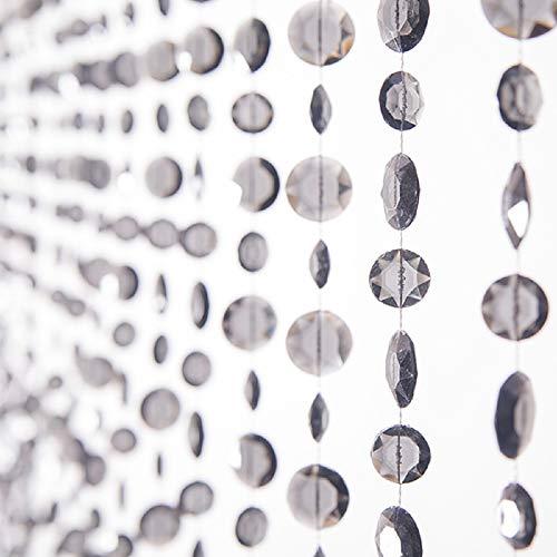 Event Decor Direct 6ft Multi-diamond Cut Non-iridescent Beaded Curtain – Smoke For Sale