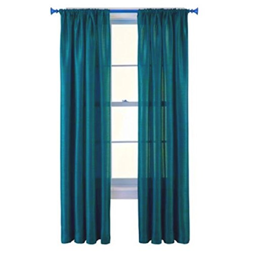 GorgeousHome (MR2) New Window Collection 1pc Panel Curtain Faux Silk Rod Pocket Semisheer Treatment Unlined in Solid Colors and in 3 sizes (95