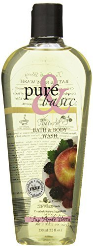 Pure and Basic Natural Bath and Body Wash, Fuji Apple Berry, 12 Fluid Ounce by Pure & - Fuji Basic Apple Berry