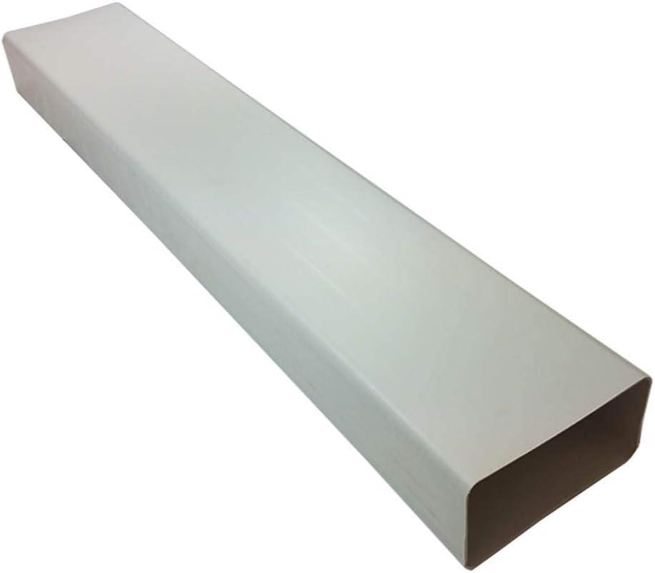 Kair 180mm x 95mm Rectangular Flat Ducting Pipe 1 Metre Length - White Plastic - SYS-150 - DUCVKC651 by Kair: Amazon.es: Hogar