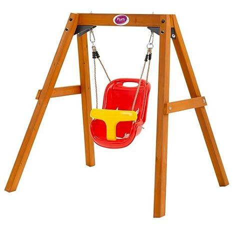 Plum children 39 s baby toddlers garden swing wooden 1 3 for Baby garden swing amazon
