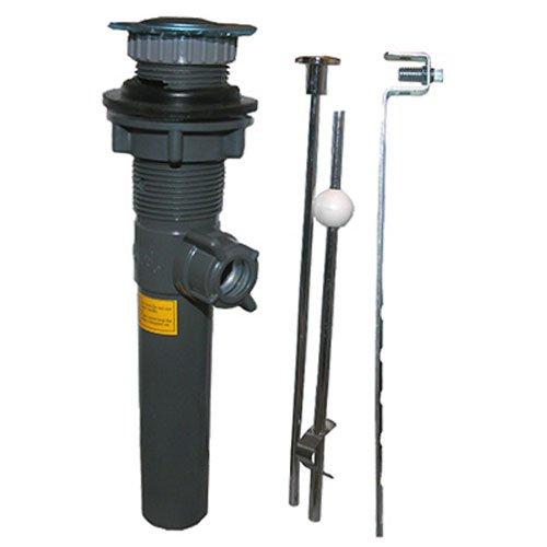 LASCO 03-4631 1-1/4-Inch Plastic Body Chrome Trim Lavatory Pop Up Drain Assembly