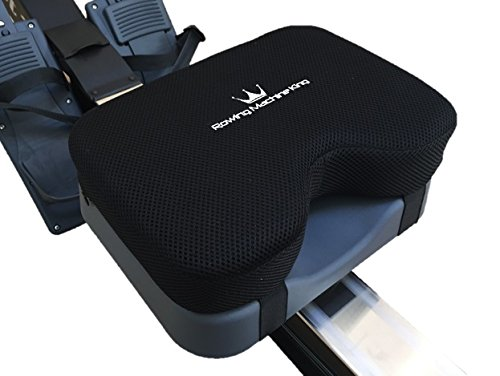 Rowing Machine Seat Pad for Concept2 Model D & E – Plus Other Rower Models (WaterRower, NordicTrack, Etc.) Seat Cushion Relieves Sore Butt Pain. Memory Foam Material (no gel) Good for Sculling & Boats