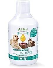 AniForte - Aceite Feed Oil para perros y gatos 500 ml - cuidado natural del pelaje para un pelo brillante y sedoso, rico en Omega 3 y Omega 6 ácidos grasos