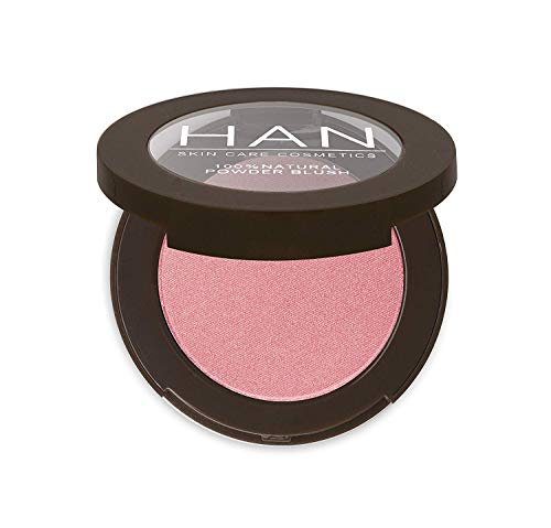 HAN Skincare Cosmetics All Natural Pressed Blush, Coral Candy