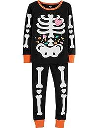 Girls 2-Piece Glow-in-The-Dark Halloween Snug Fit Cotton