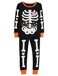 Carter's Toddler Girls Glow-in-The-Dark Skeleton Pajama Set