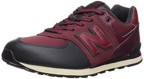 Toddler Black Nubuck Footwear - New Balance Boys' Iconic 574 Sneaker Nubuck Burgundy/Black 6.5 W US Toddler