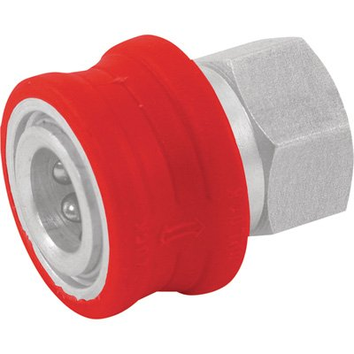 NorthStar Pressure Washer Insulated Quick-Connect Coupler - 1/4in. NPT-F, 5000 PSI, 12.0 GPM, Stainless Steel, Model Number 2100385P by NorthStar