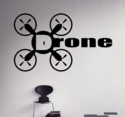 Air Drone Logo Wall Vinyl Decal Quadcopter Shop Wall Sticker ...