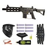US Army Project Salvo Paintball Marker Gun 3Skull Mega Set - Black