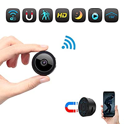 Spy Camera, Wireless Hidden HD 1080P Mini Portable Home Security Battery Powered Covert Nanny Cam, Small Indoor WiFi Video Recorder- Motion Activated/Night Vision Remote Monitor Phone App