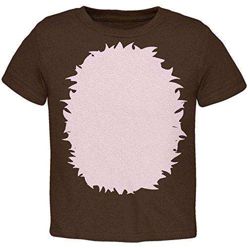 Halloween Porcupine Hedgehog Costume Toddler T Shirt Brown 2T