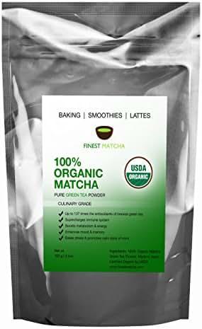 Culinary Matcha Green Tea Powder - USDA Organic - Authentic Japanese Matcha - Increase Energy, 137 x Antioxidants, Burn Fat - For Smoothies, Lattes and Baking,100g