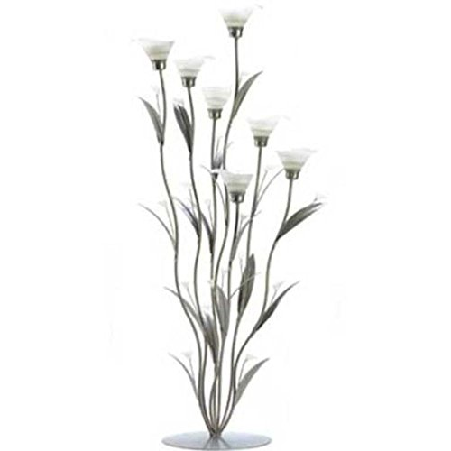 (FindingKing Silver Calla Lily Candle Holder)