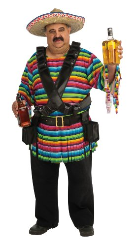 Rubie's Tequila Sunrise Costume, Rainbow Striped, Standard